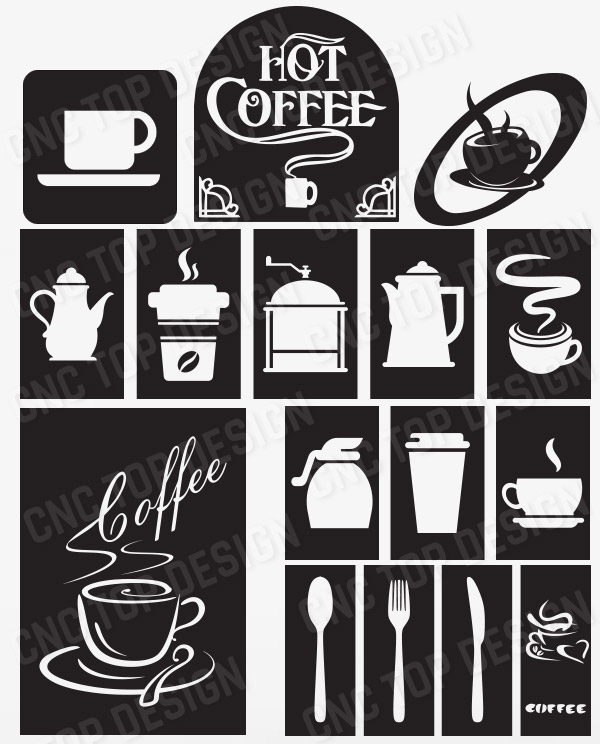 Pack Coffee Sign Modern Kitchen