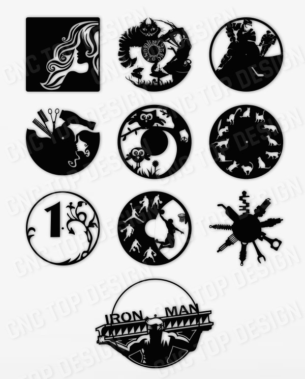 10 Items - Wall Clock Base Decore
