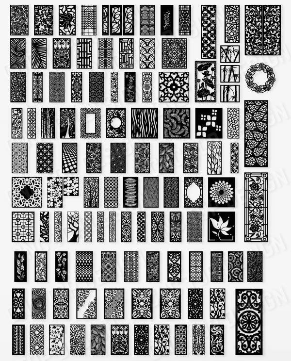 +100 DXF of Laser Cut -CNC Vector DXF-CDR - AI Art file