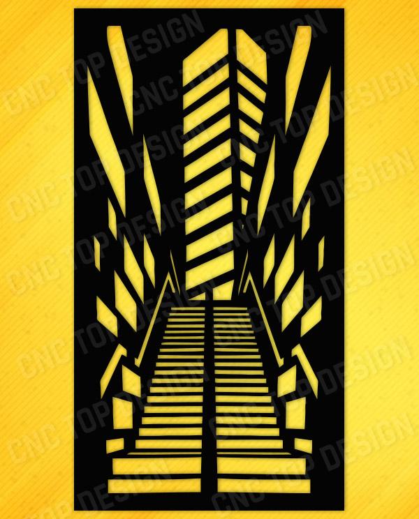 City baffles stair illusion for cnc machine