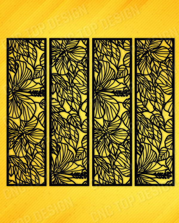 Ornaments Flowers Inserts Decorative Privacy Screen Panel