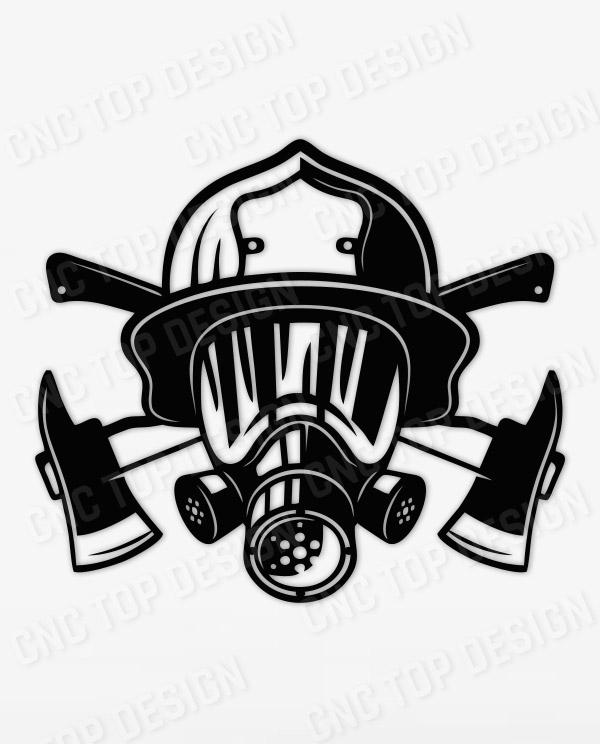 Vector Firefighter 2 Art Cut Ready Decor Home Man cave CNC dxf for Plasma Laser Script Ready Vector CNC file Svg Scrapbooking