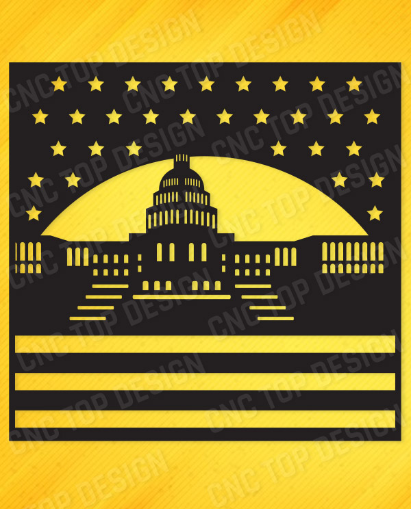 The white house of the United States, DXF File for CNC Machines