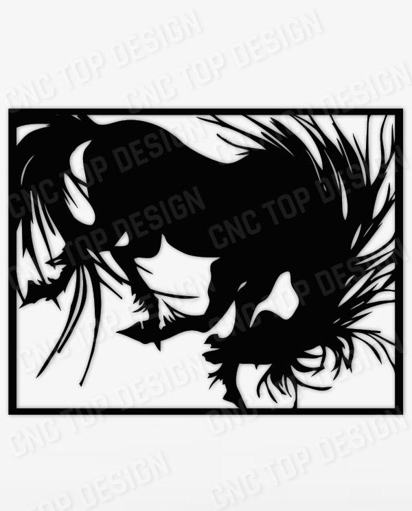 Horse Design files of CNC PLASMA LASER & ROUTER Cut - EPS AI SVG DXF CDR