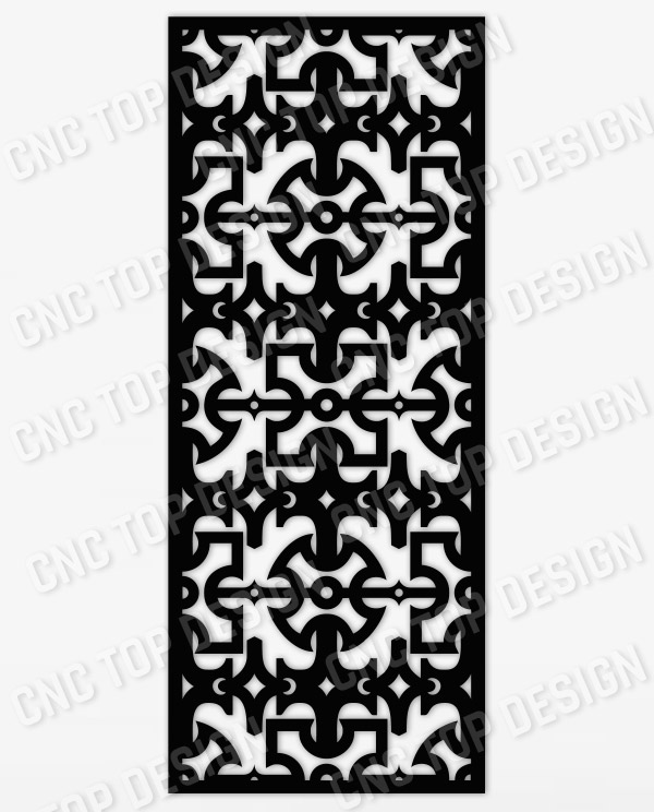 Abstract Decorative Privacy Screen Panel or Fence