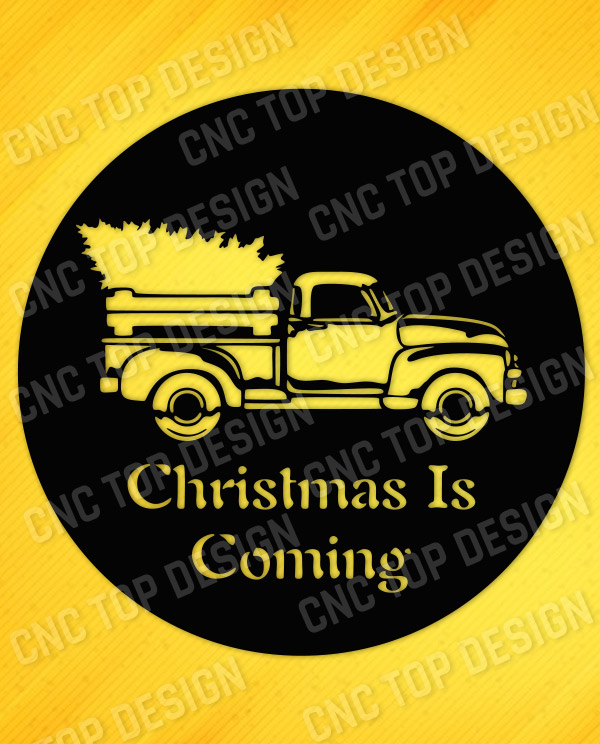 Christmas is coming scene design files - EPS AI SVG DXF CDR