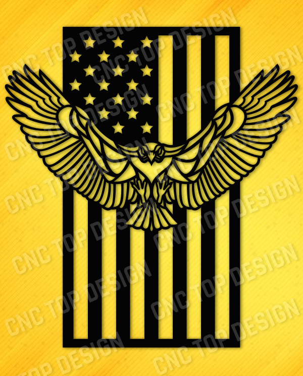 American Eagle Flag Design files - EPS AI SVG DXF CDR