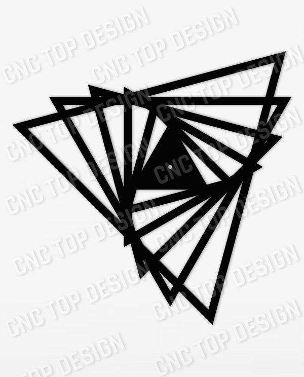 cnctopdesigncom-cnc-triangle-clock-156-1