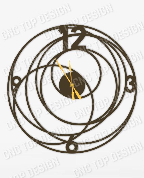 Big Bang Wall Clock Design file - DXF SVG EPS AI CDR