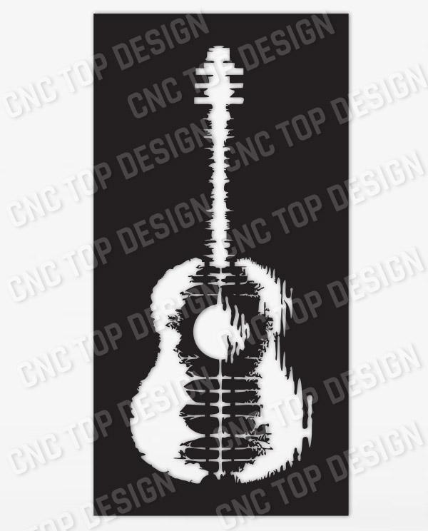 Guitar Art Vector design files - DXF SVG EPS AI CDR