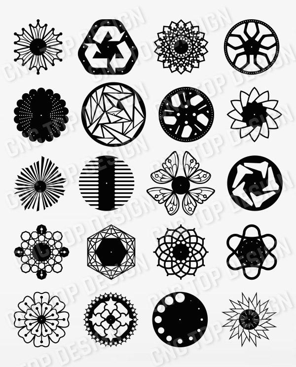 Wall Clock Decor design files - DXF SVG EPS AI CDR