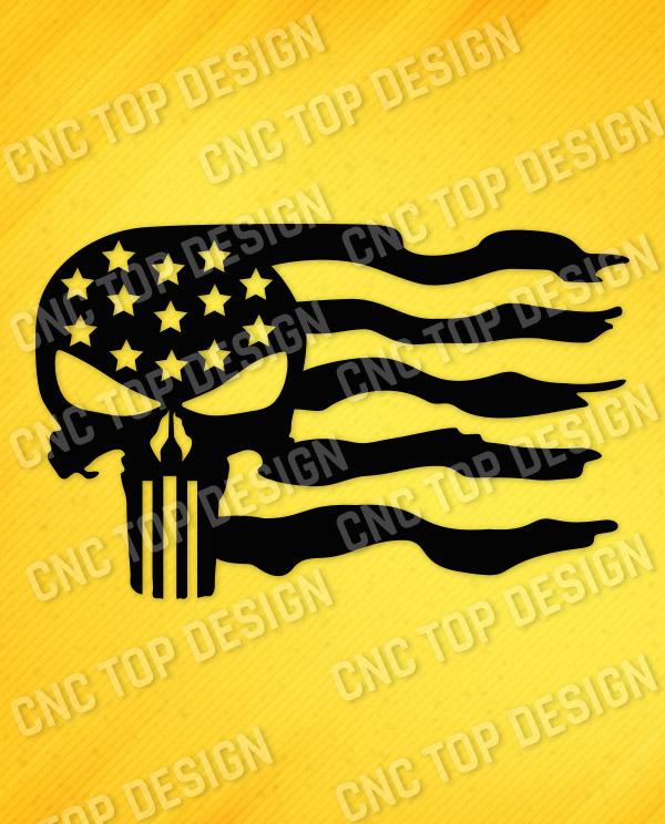 Patriotic USA Flag American Vector Design files - DXF SVG EPS AI CDR