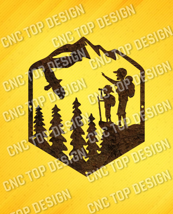 Dad son hiking camping vector design files – DXF SVG EPS AI CDR