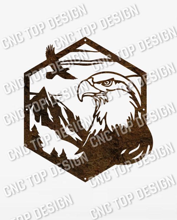 Majestic bald eagle american vector design files - DXF SVG EPS AI CDR