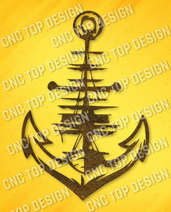 Anchor vector design files - SVG DXF EPS AI CDR