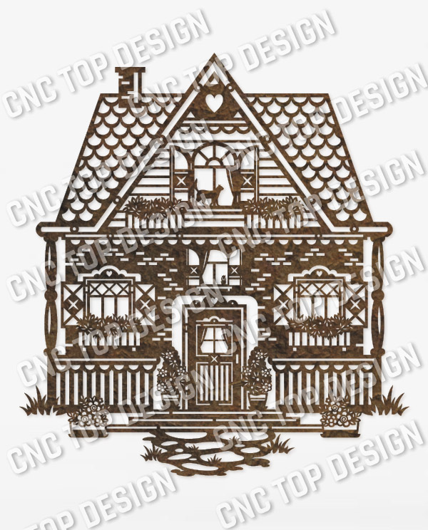 Wonderful house vector design files - SVG DXF EPS AI CDR